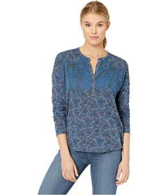 Lucky Brand Washed Western Henley Top