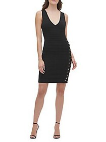 Guess Sleeveless Bodycon Dress BLACK