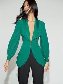 Green Ruched Jacket - Gabrielle Union Collection -