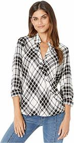 Splendid Plaid Surplice Top