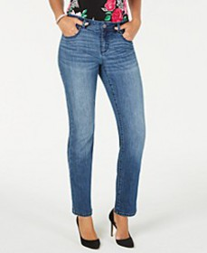 INC Straight-Leg Jeans with Tummy Control, Created