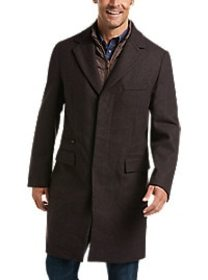 Joseph Abboud Brown Wool Modern Fit Topcoat