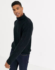 French Connection Chunky Roll Neck Sweater Plain