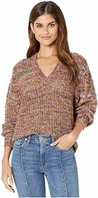 Splendid V-Neck Marled Pullover Sweater