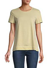 Lafayette 148 New York Stripe-Print Cotton Tee END