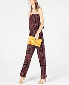 INC Paisley Printed Jumpsuit, Created for Macy's