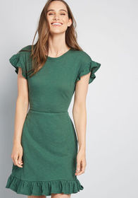 ModCloth ModCloth Glam Goings Knit Dress Green