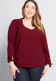 ModCloth ModCloth Ideal Discovery Long Sleeve Blou