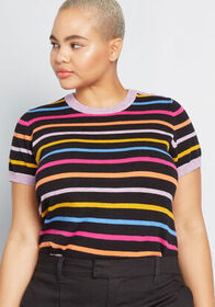 ModCloth Charter School Short Sleeve Sweater in Bl