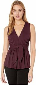 Susana Monaco Sleeveless Gathered Bow Front Top