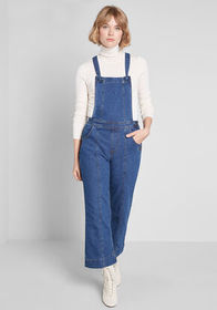 ModCloth Playing Favorites Seamed Overalls Medium