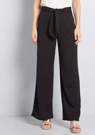 ModCloth Likely Outcome Wide-Leg Pants in Black