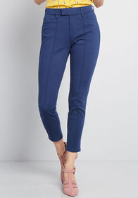 ModCloth The Richmond Pant Short Inseam in Navy Bl