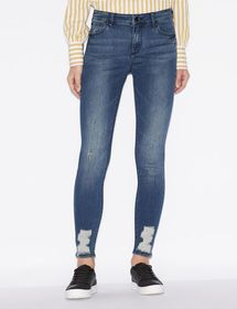 Armani SUPER-SKINNY JEANS IN WORN-EFFECT DENIM