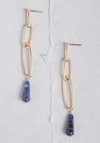 Hanging Around Drop Earrings Gold