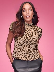 Leopard-Print Blouse - Sweet Pea - New York & Comp
