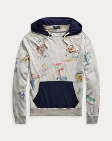 Ralph Lauren Cotton Jersey Graphic Hoodie