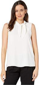 Vince Camuto Sleeveless Tie Neck Button Detail Sof