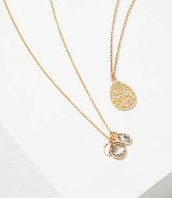 Pave Filigree Layered Delicate Necklace