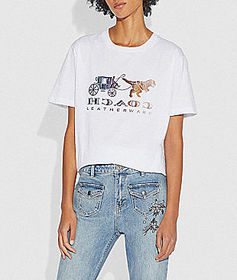 Coach mirrored rexy and carriage t-shirt
