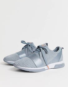 Ted Baker gray suede sporty strap detail sneakers