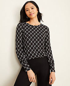 Roped Link Matte Jersey Blouse