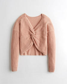 Hollister Reversible Twist Sweater, PINK