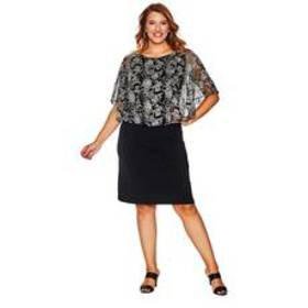 Plus Size Connected Apparel Metallic Embroidered A