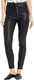 7 For All Mankind High-Waist Ankle Skinny Exposed