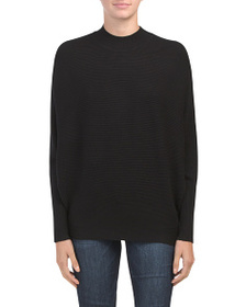 PHILOSOPHY Long Dolman Sleeve Rib Pullover Sweater