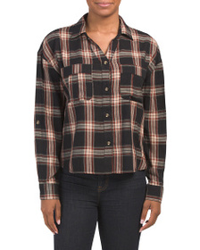 C&C CALIFORNIA Plaid Washed Cargo Shirt