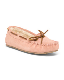 MINNETONKA Allie Junior Suede Trapper Moccasins