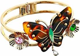 Betsey Johnson Tortoise Butterfly Hinged Bangle Br