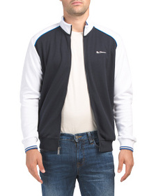BEN SHERMAN Color Block Track Jacket