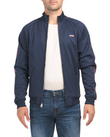 BEN SHERMAN Knit Fleece Back Jacket