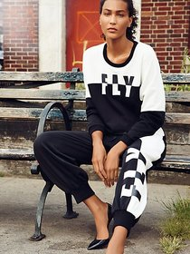 Black & White Sweatshirt - Gabrielle Union Collect
