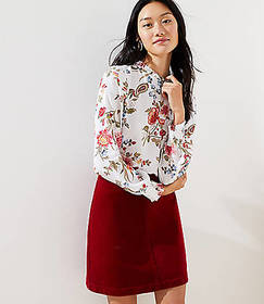 Floral Ruffle Tie Back Blouse