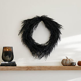 Crate Barrel Black Pine Wreath
