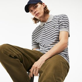 Lacoste Men's Lacoste Regular Fit Striped Pima Cot