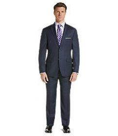 Jos Bank Traveler Collection Tailored Fit Glen Pla