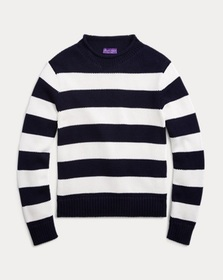 Ralph Lauren Striped Cotton-Blend Sweater