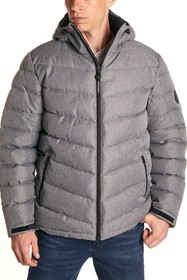 Perry Ellis Heather Quilted Puffer Jacket