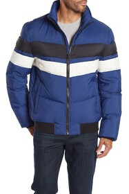 Andrew Marc Quilted Colorblock Puffer Jacket