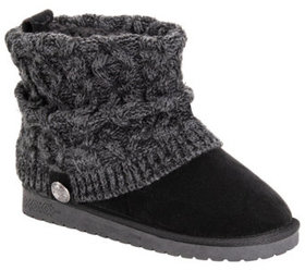 MUK LUKS Women's Slouch Knit Ankle Booties - Lille
