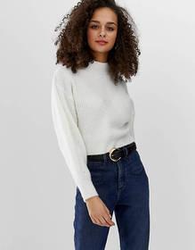 ASOS DESIGN chunky sweater with stitch detail and