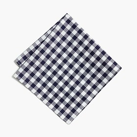 J. Crew Factory Cotton pocket square in gingham