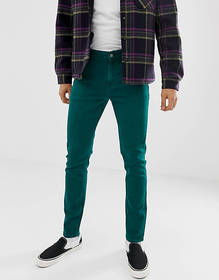 ASOS DESIGN skinny jeans in vintage green