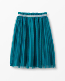 Hanna Andersson Skirt In Soft Tulle in Trek Teal -