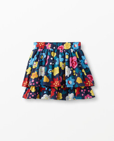 Hanna Andersson Flower Poplin Skirt in Navy - main