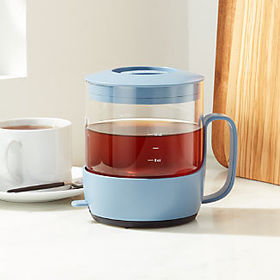 Crate Barrel Primula Addison Blue 24-Ounce Tea Mak